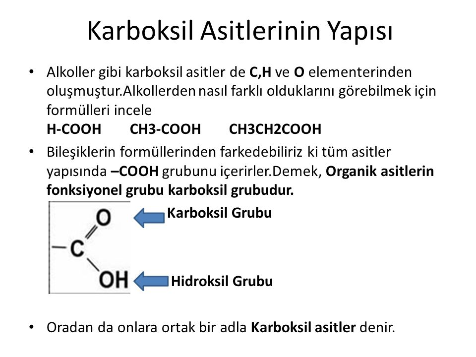 Karboksil Asitlerinin Yapısı