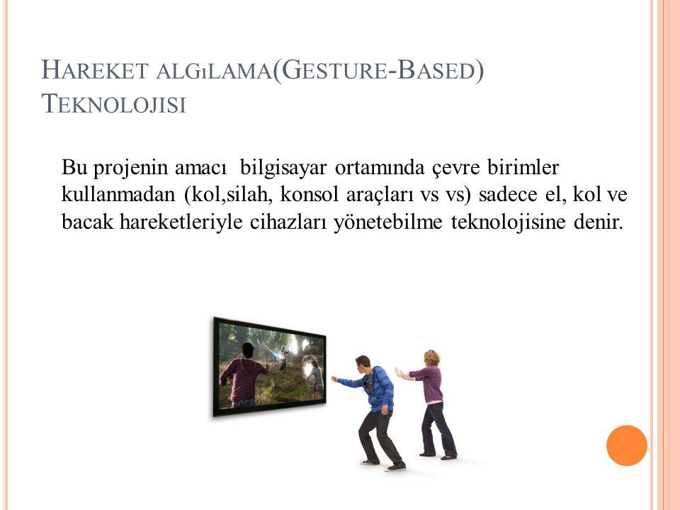 Hareket algılama(Gesture-Based) Teknolojisi