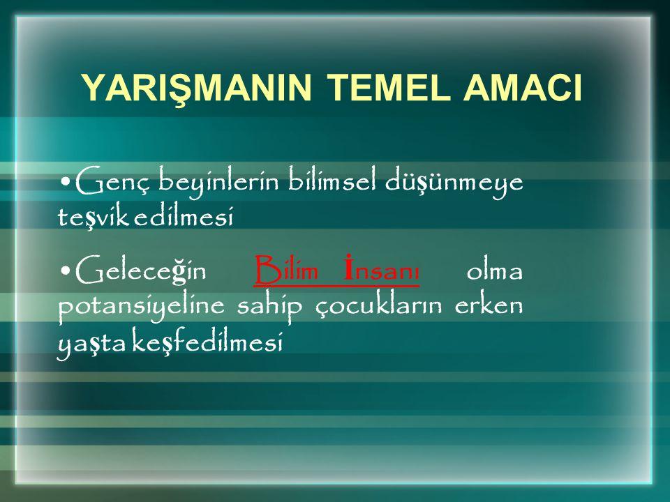 YARIŞMANIN TEMEL AMACI