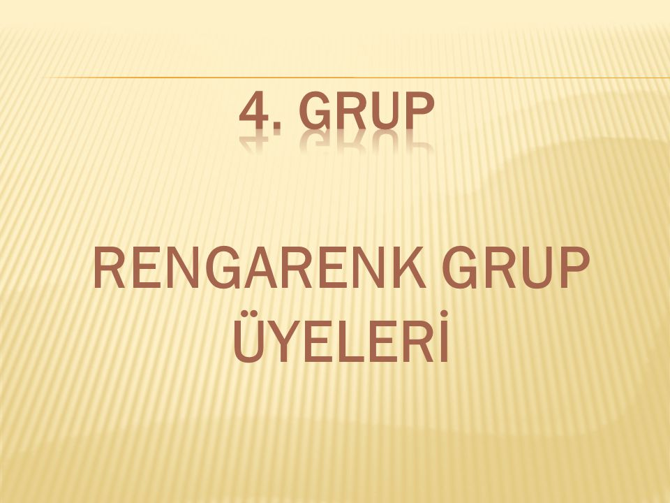 RENGARENK GRUP ÜYELERİ