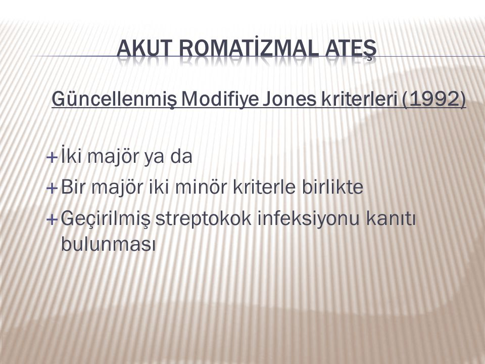 Güncellenmiş Modifiye Jones kriterleri (1992)
