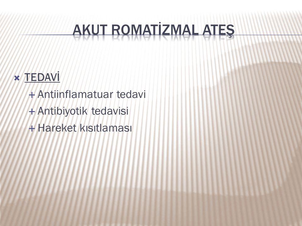 Akut romatİZMAL ATEŞ TEDAVİ Antiinflamatuar tedavi