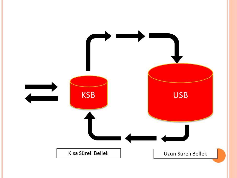 KSB USB Kısa Süreli Bellek Uzun Süreli Bellek