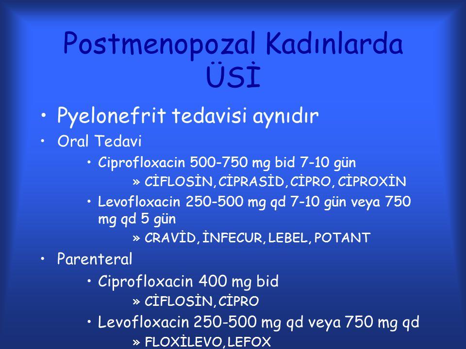 Postmenopozal Kadınlarda ÜSİ
