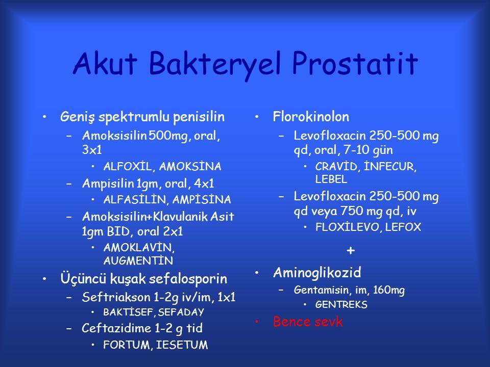 Akut Bakteryel Prostatit