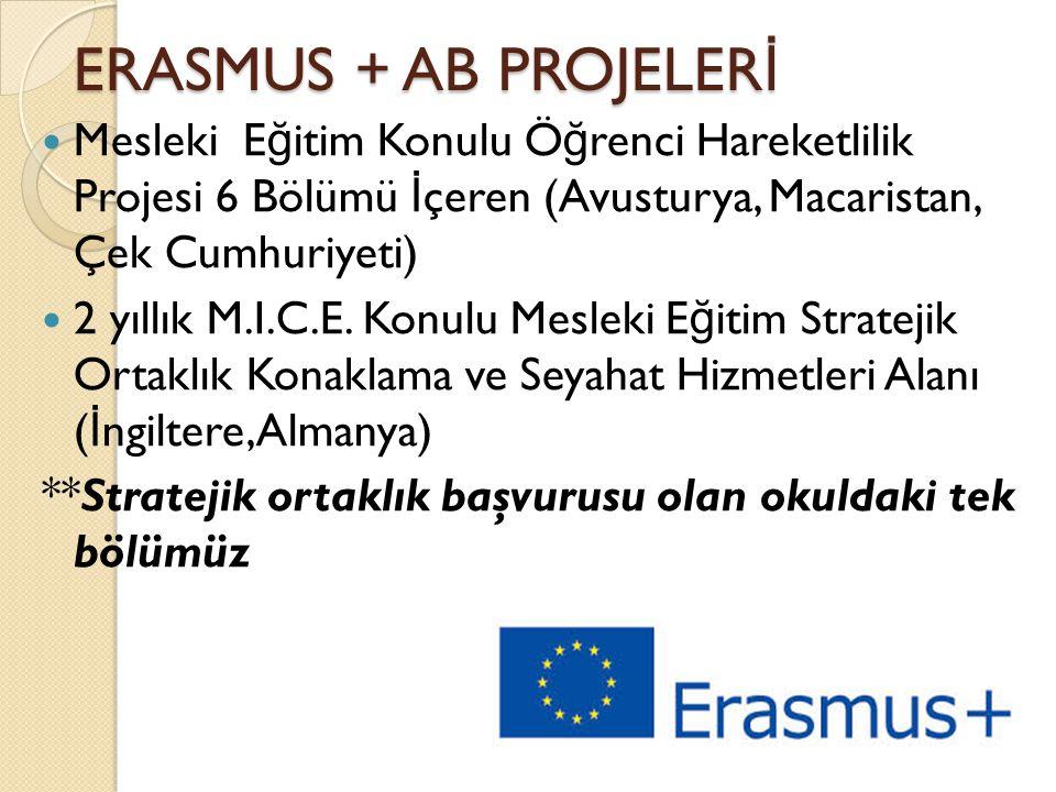 ERASMUS + AB PROJELERİ Mesleki Eğitim Konulu Öğrenci Hareketlilik Projesi 6 Bölümü İçeren (Avusturya, Macaristan, Çek Cumhuriyeti)