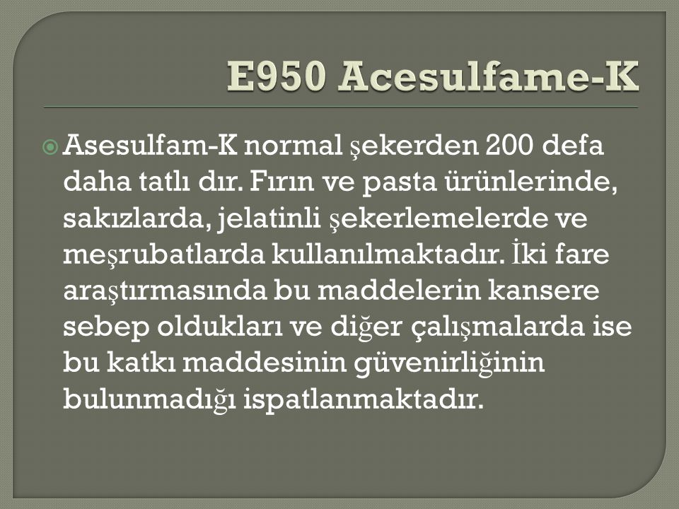E950 Acesulfame-K