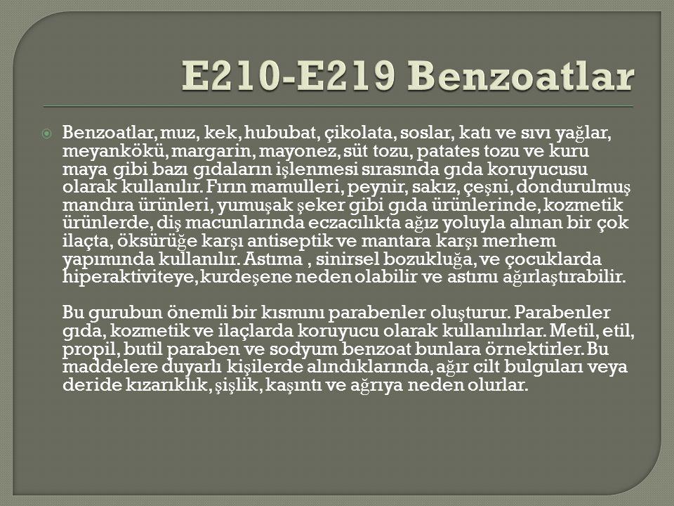 E210-E219 Benzoatlar