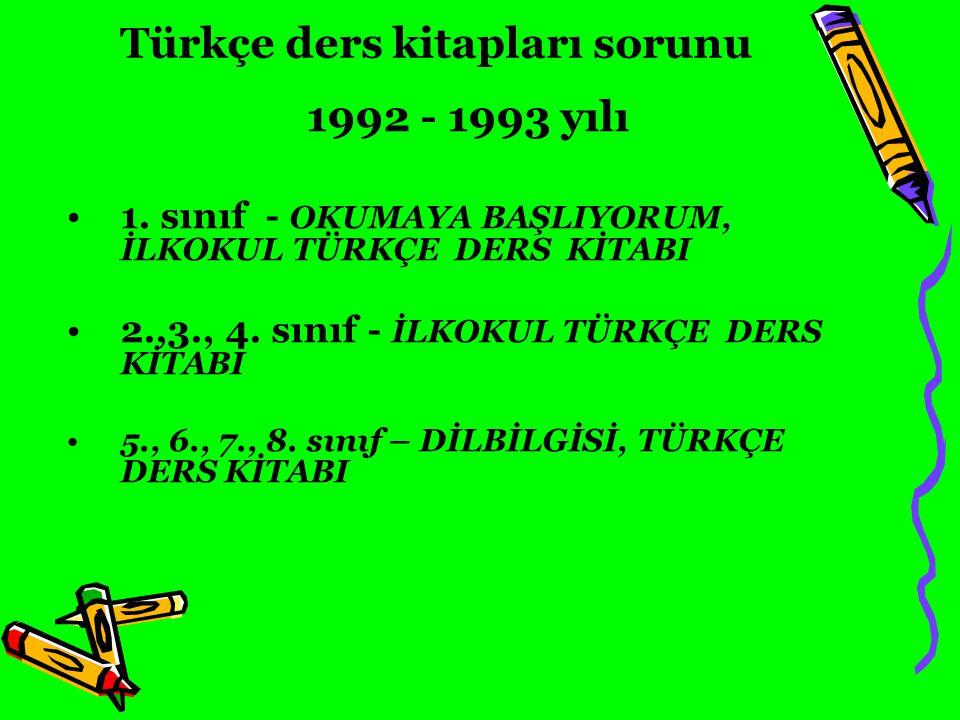 Türkçe ders kitapları sorunu