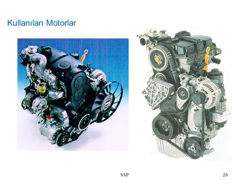 Kullanılan Motorlar SSP