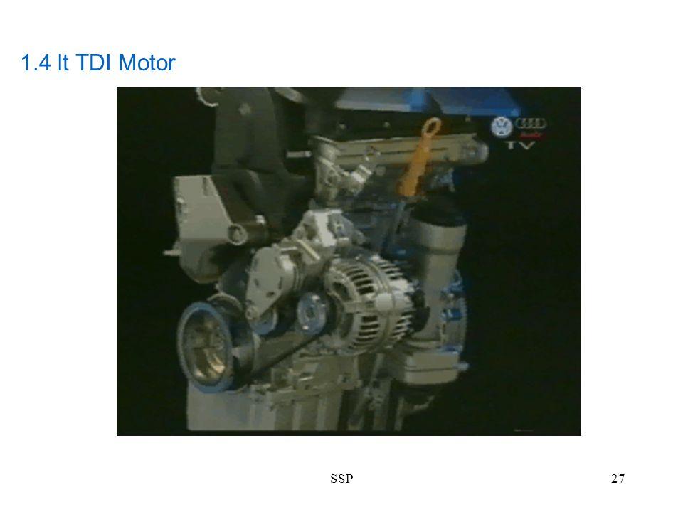 1.4 lt TDI Motor SSP
