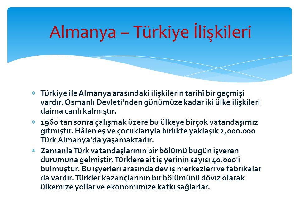 Almanya – Türkiye İlişkileri