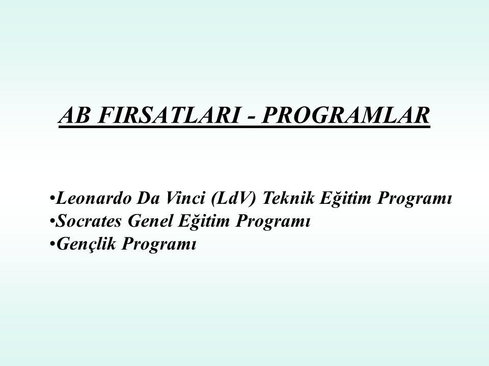 AB FIRSATLARI - PROGRAMLAR