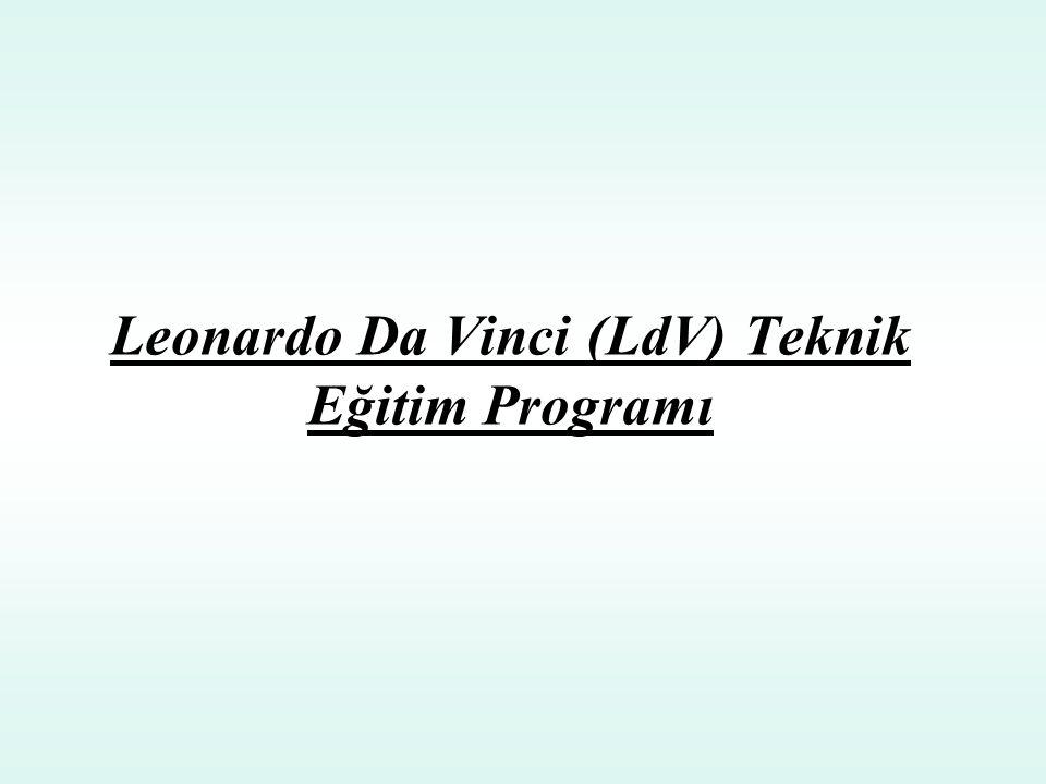 Leonardo Da Vinci (LdV) Teknik Eğitim Programı