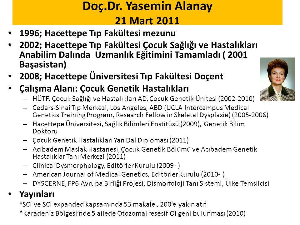 Doç.Dr. Yasemin Alanay 21 Mart 2011