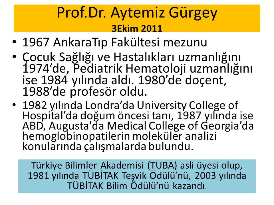 Prof.Dr. Aytemiz Gürgey 3Ekim 2011