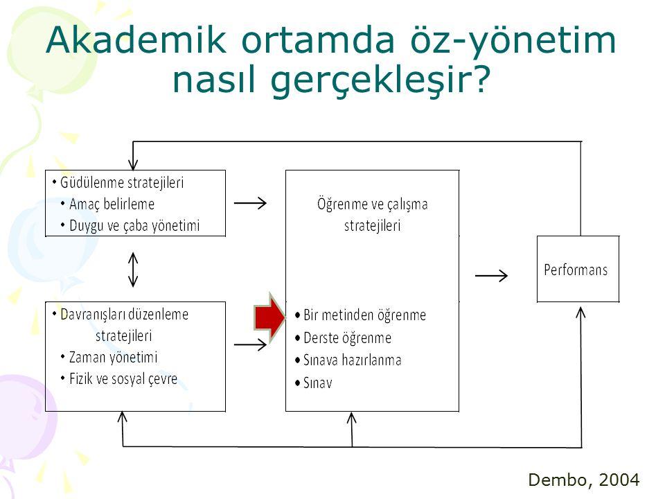 Akademik ortamda öz-yönetim nasıl gerçekleşir