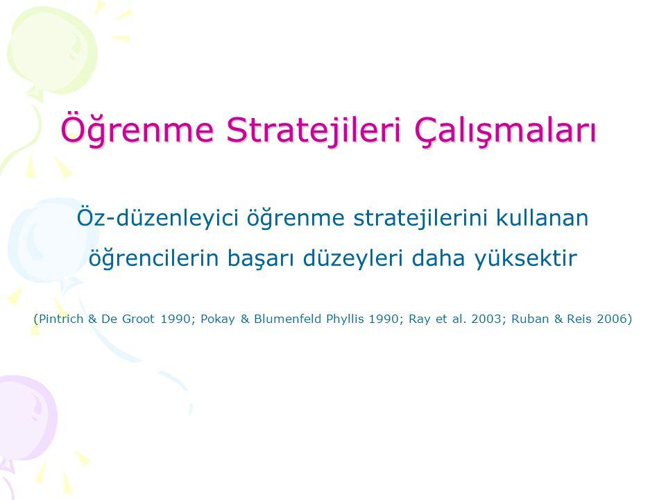 Öğrenme Stratejileri Çalışmaları