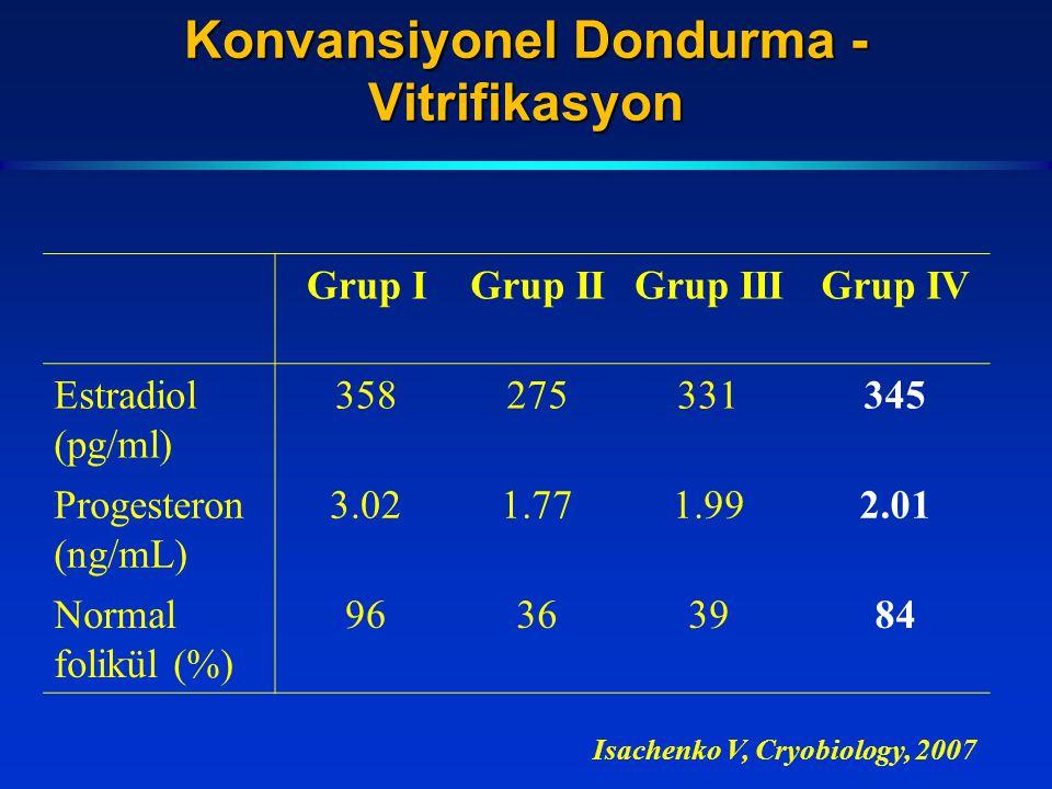 Konvansiyonel Dondurma - Vitrifikasyon