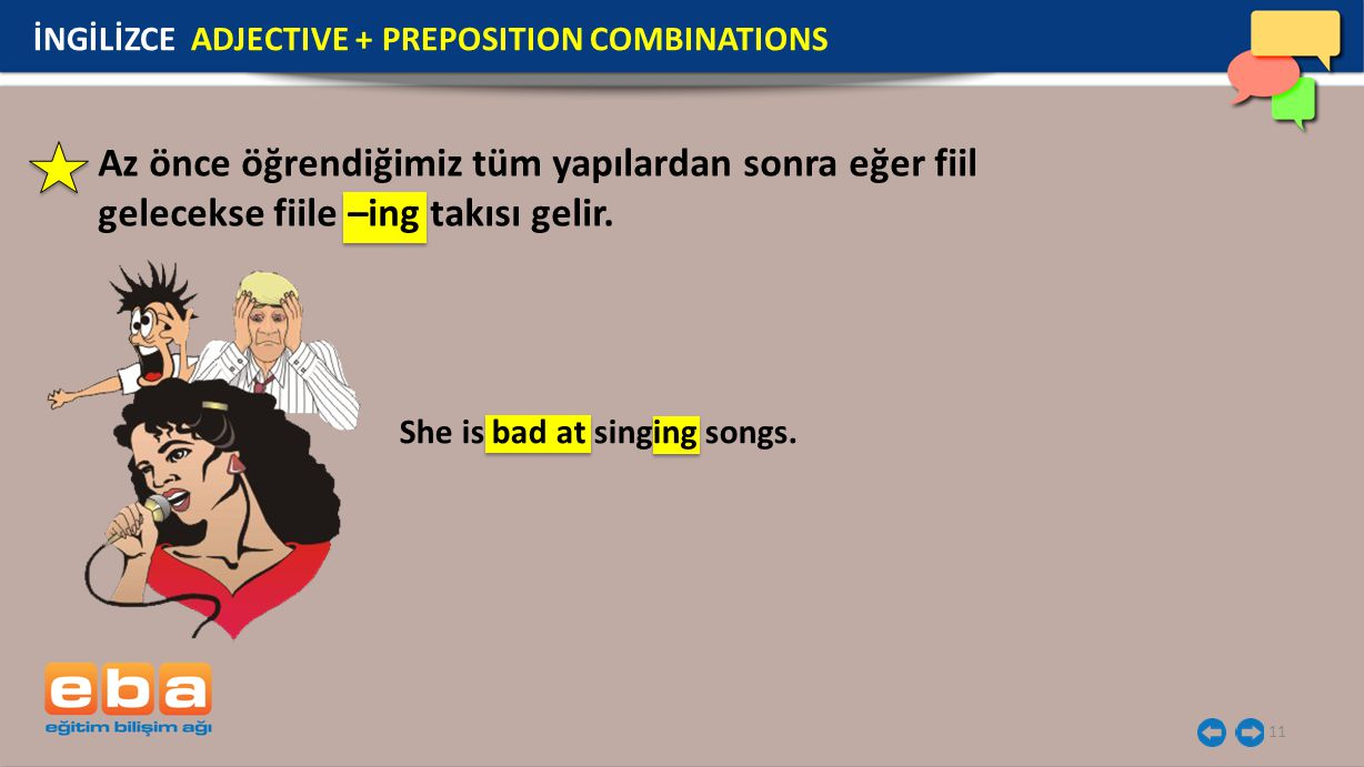 İNGİLİZCE ADJECTIVE + PREPOSITION COMBINATIONS
