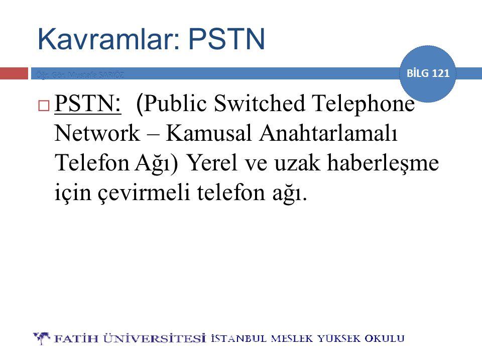 Kavramlar: PSTN