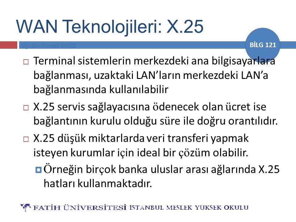 WAN Teknolojileri: X.25