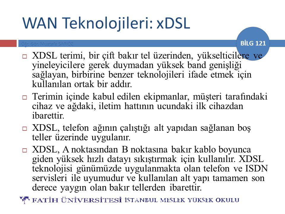 WAN Teknolojileri: xDSL