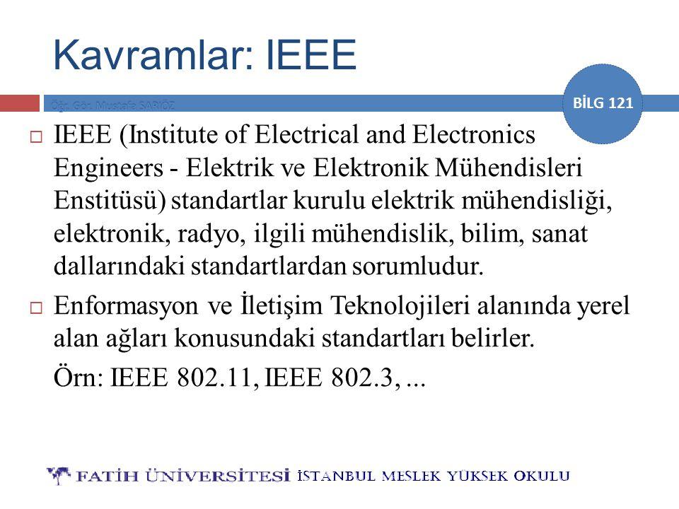 Kavramlar: IEEE