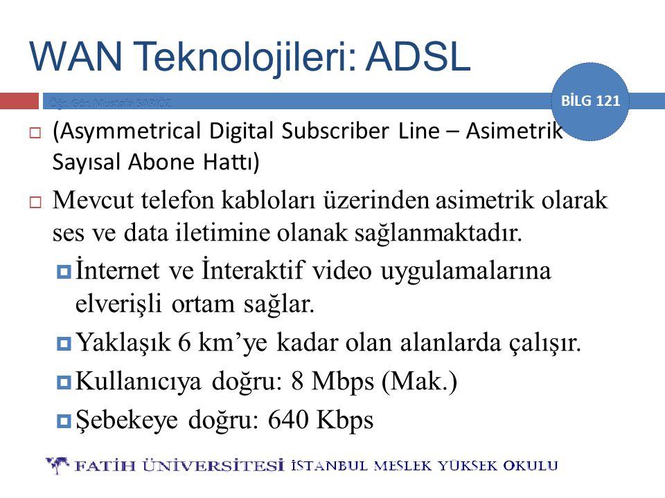 WAN Teknolojileri: ADSL