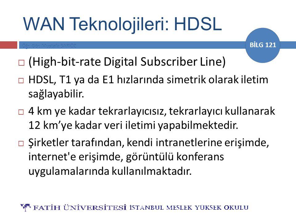 WAN Teknolojileri: HDSL