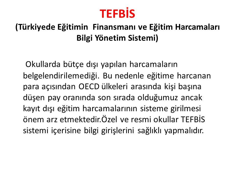 TEFBİS (Türkiyede Eğitimin Finansmanı ve Eğitim Harcamaları Bilgi Yönetim Sistemi)