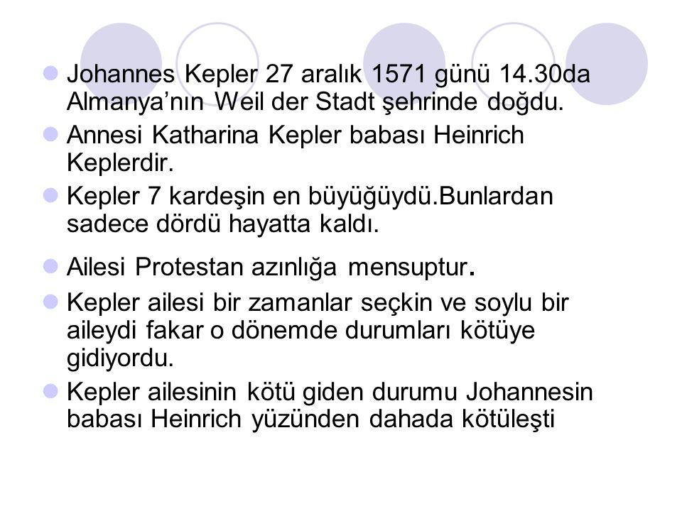 Johannes Kepler 27 aralık 1571 günü 14