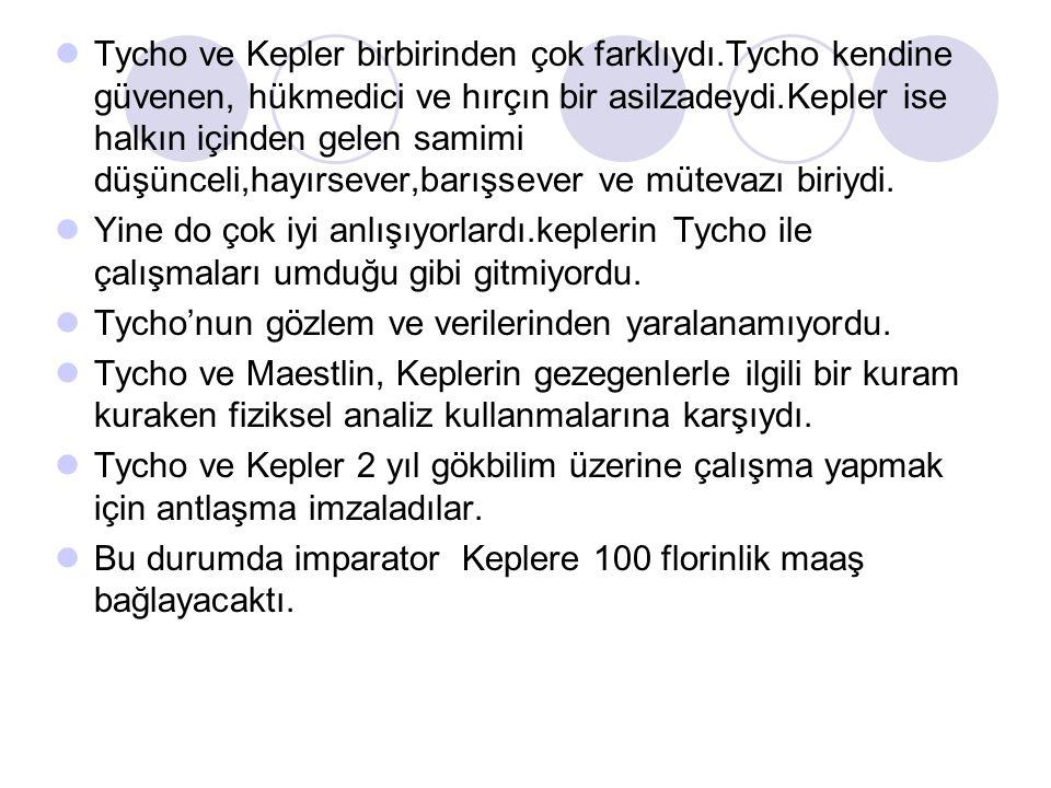 Tycho ve Kepler birbirinden çok farklıydı
