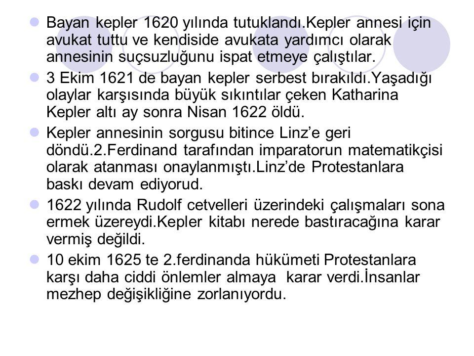 Bayan kepler 1620 yılında tutuklandı