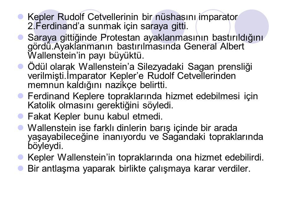 Kepler Rudolf Cetvellerinin bir nüshasını imparator 2