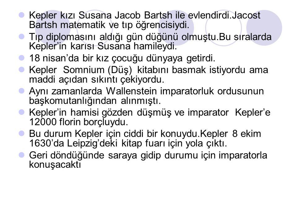 Kepler kızı Susana Jacob Bartsh ile evlendirdi