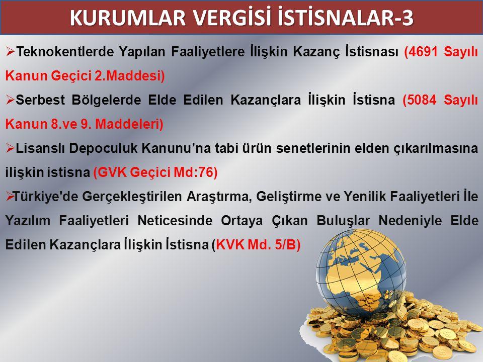 KURUMLAR VERGİSİ İSTİSNALAR-3
