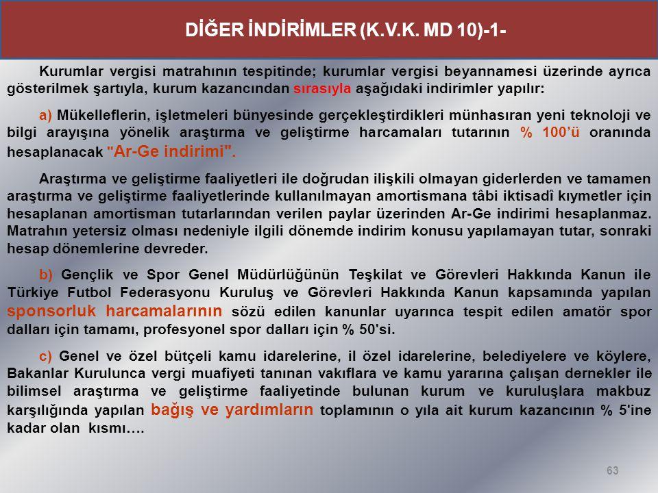 DİĞER İNDİRİMLER (K.V.K. MD 10)-1-