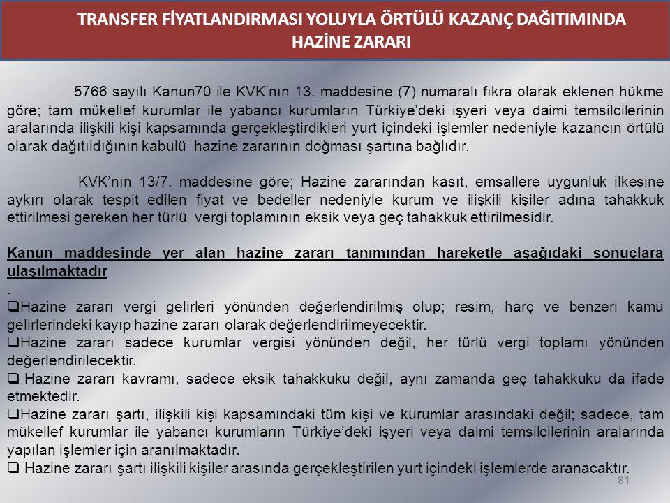 TRANSFER FİYATLANDIRMASI YOLUYLA ÖRTÜLÜ KAZANÇ DAĞITIMINDA