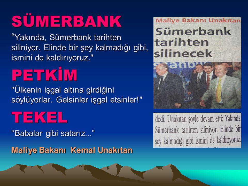 SÜMERBANK Yakında, Sümerbank tarihten siliniyor