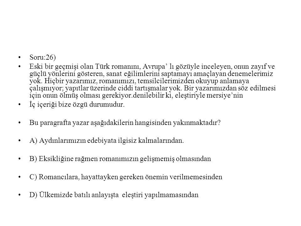 Soru:26)
