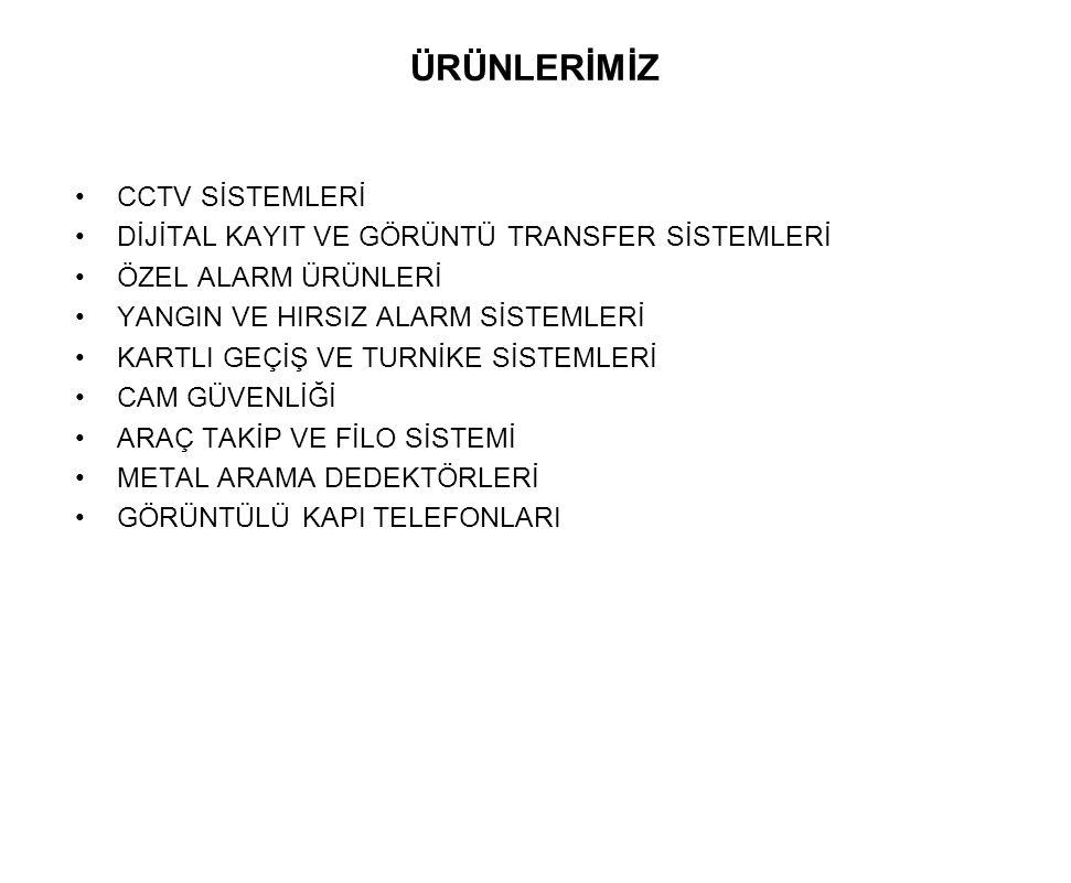 ÜRÜNLERİMİZ CCTV SİSTEMLERİ