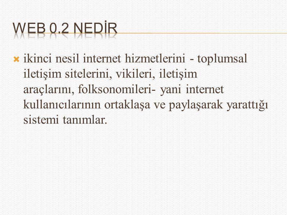 WEB 0.2 NEDİR