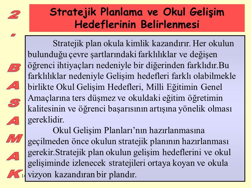 Stratejik Planlama ve Okul Gelişim Hedeflerinin Belirlenmesi