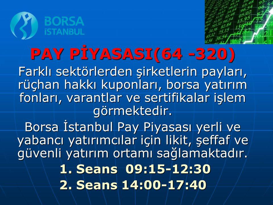 PAY PİYASASI(64 -320)