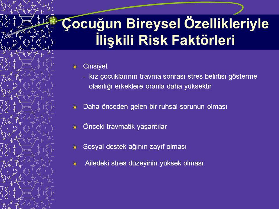 Çocuğun Bireysel Özellikleriyle İlişkili Risk Faktörleri