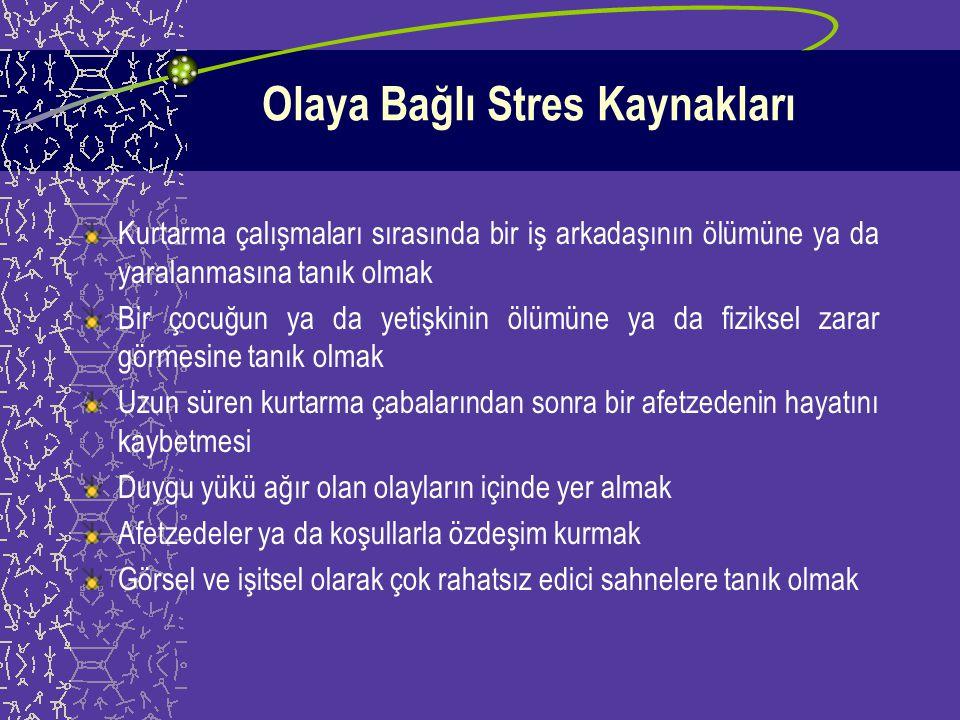 Olaya Bağlı Stres Kaynakları