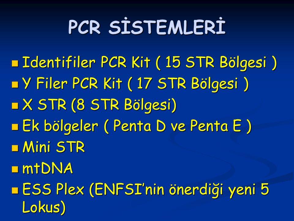 PCR SİSTEMLERİ Identifiler PCR Kit ( 15 STR Bölgesi )