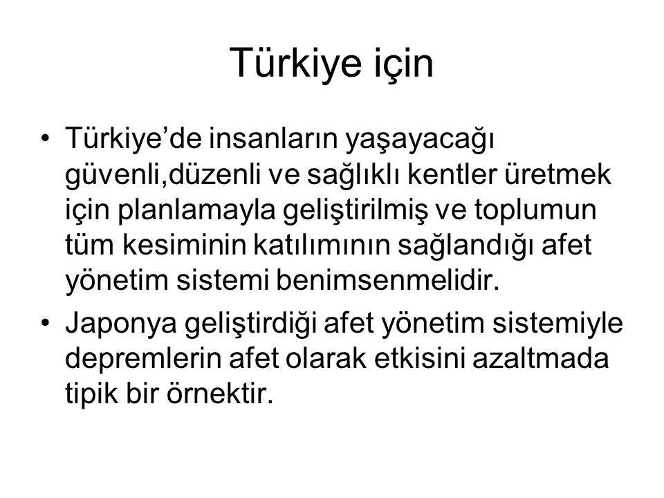 Türkiye için