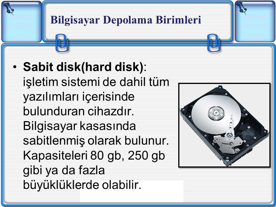 Bilgisayar Depolama Birimleri
